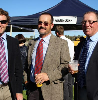 Bill Adams, Peter Williamson & Gary Taunton enjoying the races