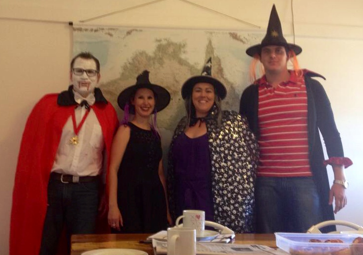 We decided to have a bit of fun in the office for Halloween on Friday.  I believe Steve gets the prize this time.  He does love a good dress up!
